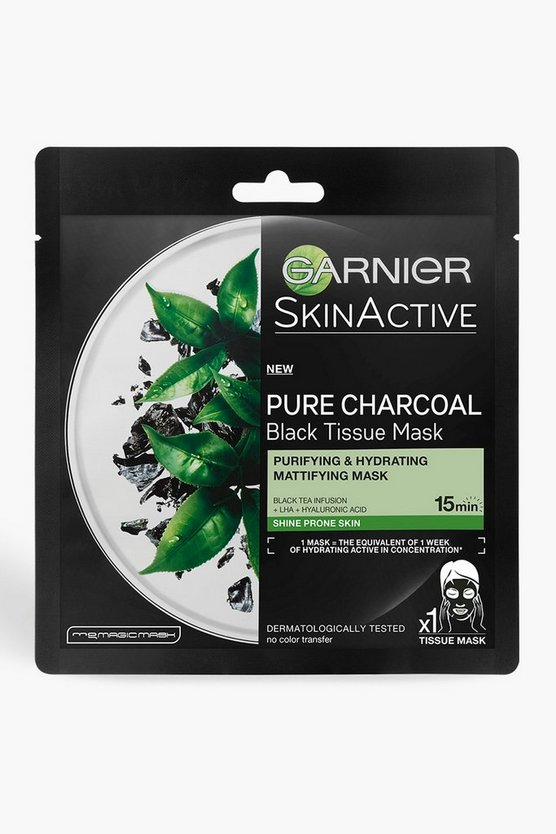 Womens Clear Garnier SkinActive Charcoal Face Mask