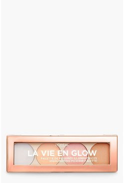 Womens Bronze L'Oreal La Vie En Glow Highlighting Palette- Cool Glow
