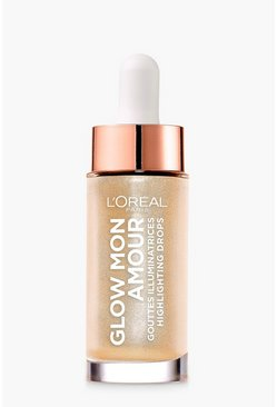Womens Champagne L'Oreal Paris Glow Highlighting Drops Sparkling Love