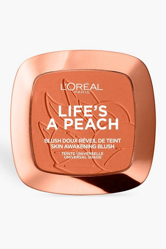 Womens Peach L'Oreal Paris Life's a Peach Blush Powder
