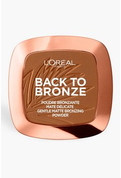L'Oreal Paris Back To Bronze Polvere oscurante, Bronzo, Femmina