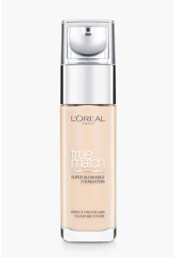 Womens Beige L'Oreal Paris True Match Foundation-Linen
