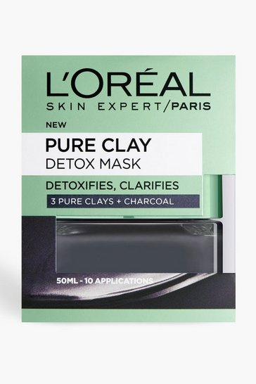 Womens Grey L'Oreal Paris Pure Clay Detox Face Mask 50ml