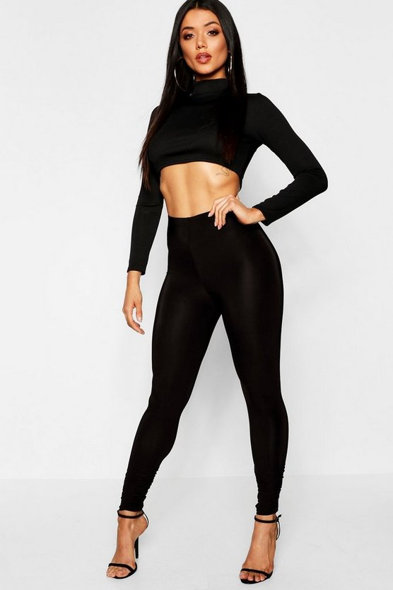 Legging sinuosi increspati