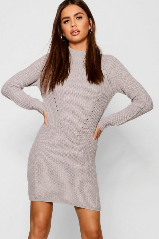 Raglan Sleeve Knitted Dress