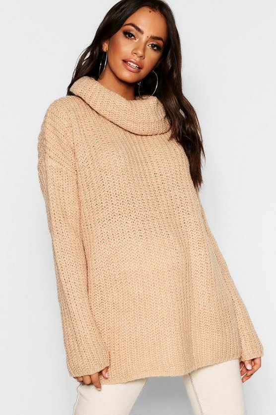 Cowl Neck Fisherman Jumper