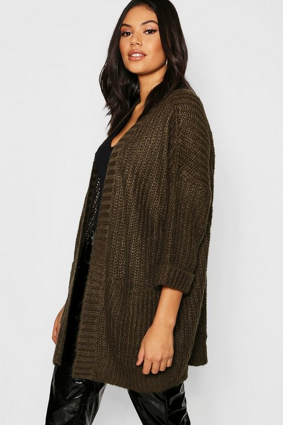 3/4 Sleeve Pocket Cardigan