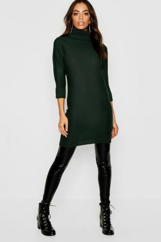 Longline Tunic With Roll Neck