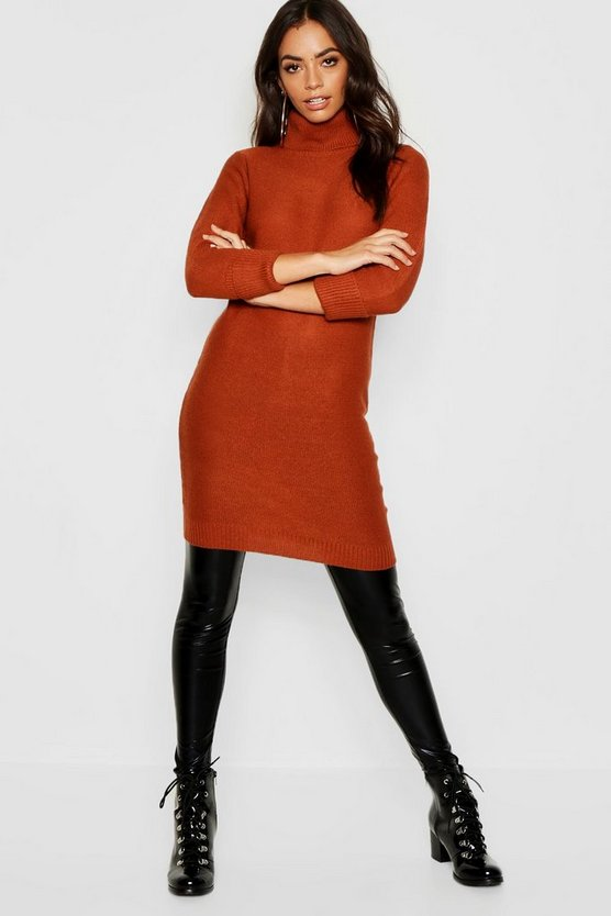 Womens Spice Longline Tunic With Roll Neck