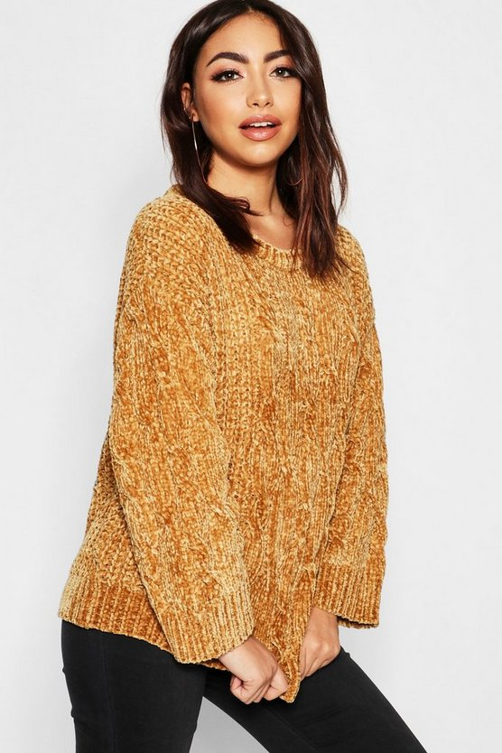Chenille Cable Jumper