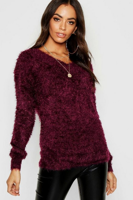 Fluffy Deep V Jumper