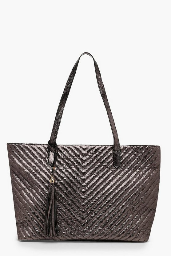 Metallic Chevron Daybag