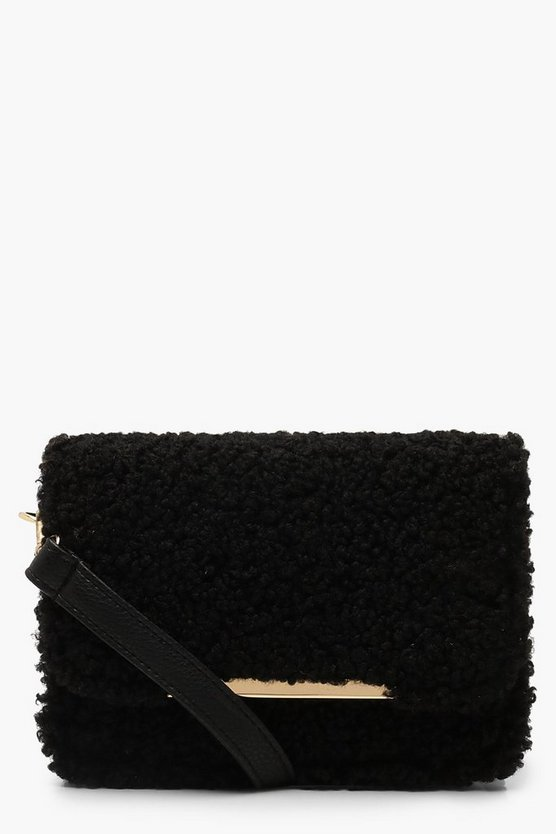 Teddy Faux Fur Cross Body