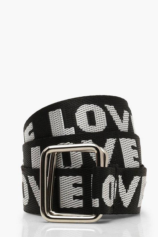 Womens Black Printed Longline Belt