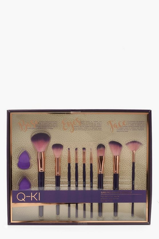 11teiliges Super Pro Pinsel-Set, Violett, Damen