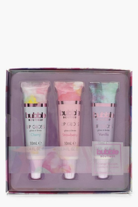 Womens Pink Bubble Boutique 3 Lip Gloss Set