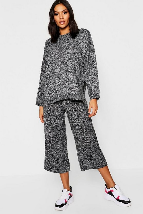 Jumper And Cropped Wide Trouser Set