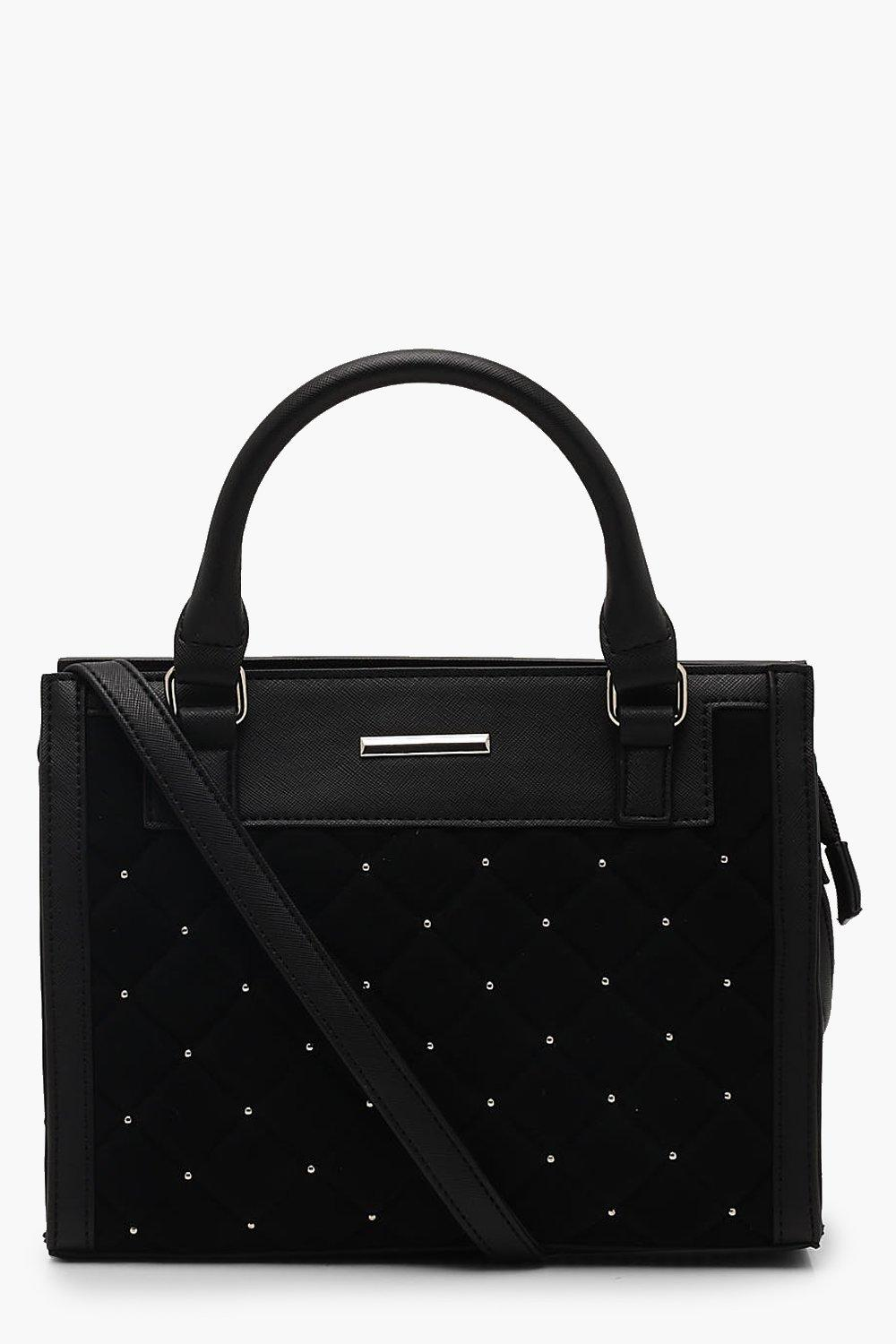 Quilted Stud Mini Tote