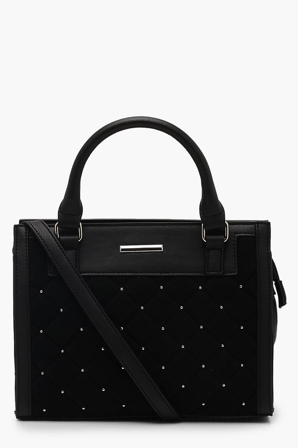 c1f5e17d4491 Quilted Stud Mini Tote