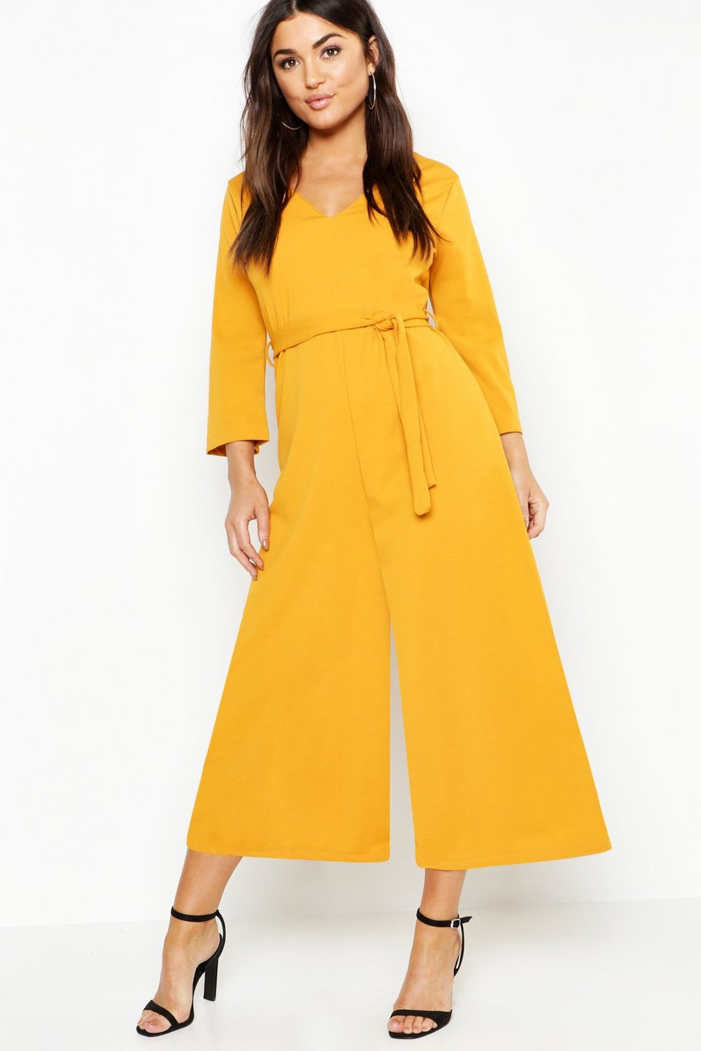 ccc5b76946db Long Sleeve Belted Wide Leg Jumpsuit