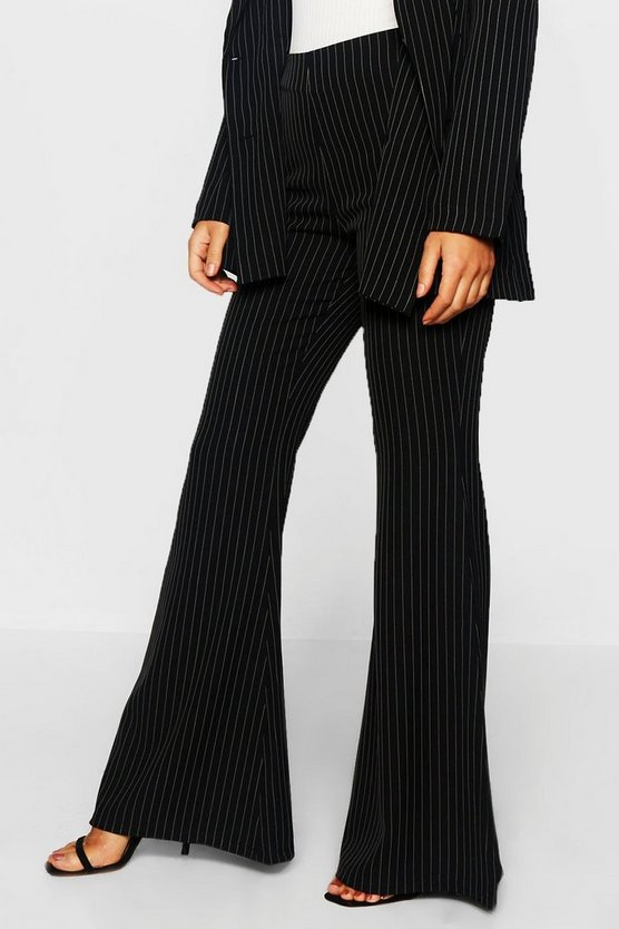 Pinstripe Flared Trouser
