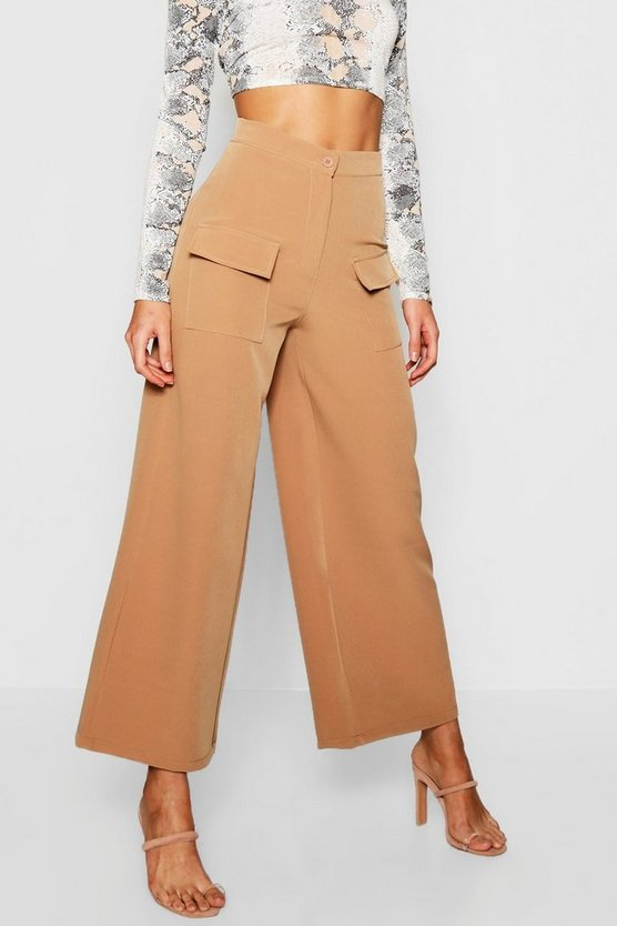 Military Pocket Wide Leg Trouser