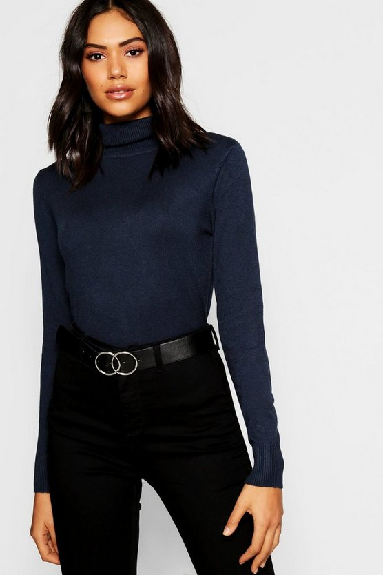 Knitted Soft Knit Premium Roll Neck Top