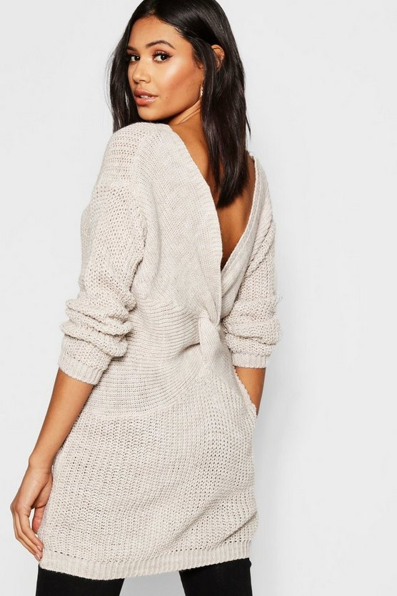 Longline Twist Back Jumper