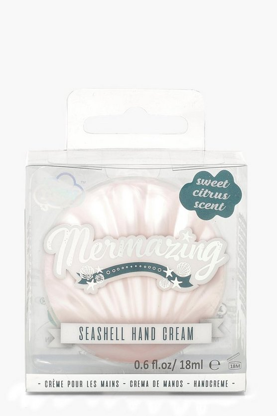 Womens Pink Mermazing Shell Hand Cream