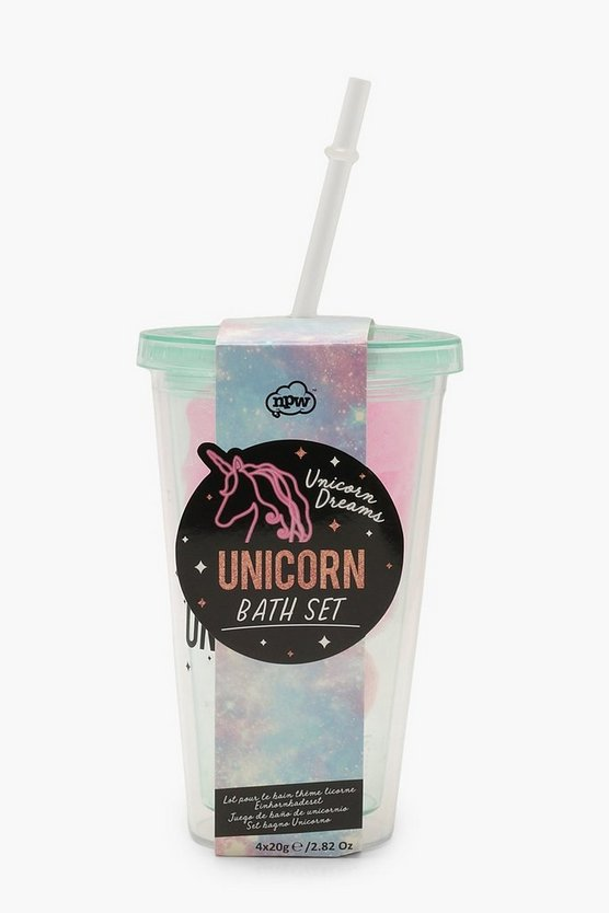 Unicorn Dreams Badebombe & Milkshake Set
