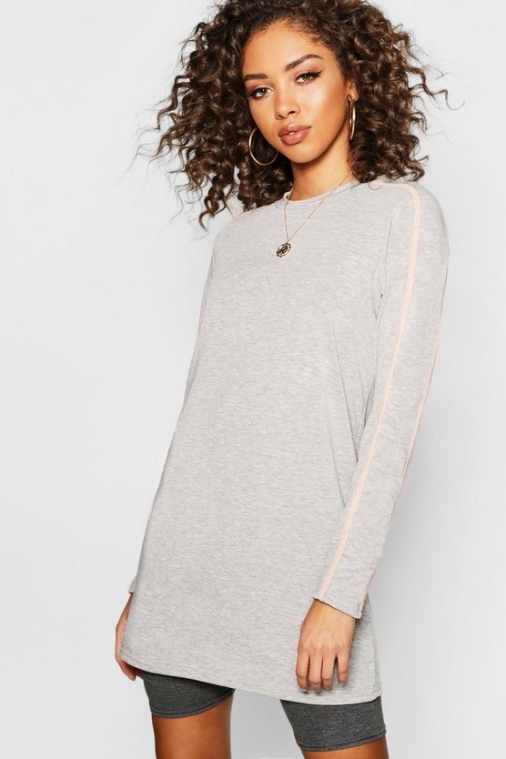 Stripe Sleeve Long Sleeve T-Shirt
