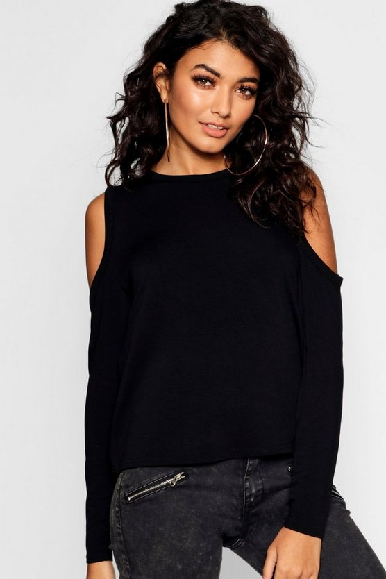 Crop Cold Shoulder T-shirt