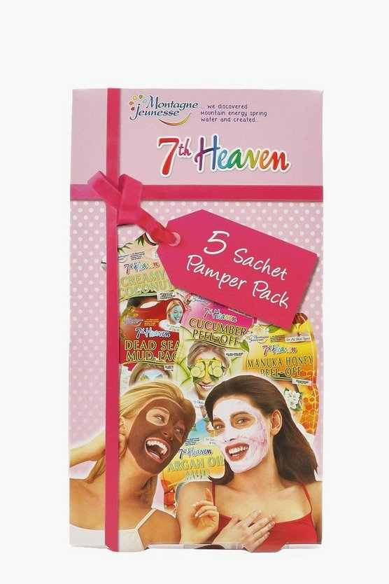 Womens Pink 5 Pack Face Mask Pamper Kit