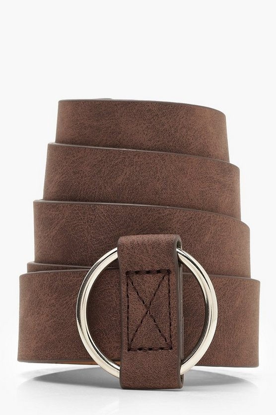 Circle Buckle Thread Through Belt
