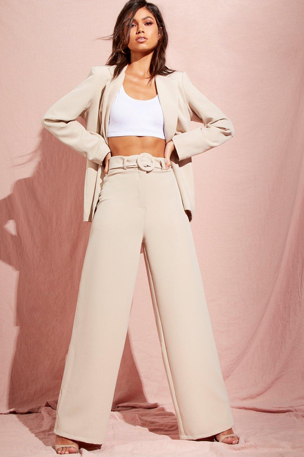 db585a427e6e Wide Leg Belted High Waisted Trouser. Hover to zoom