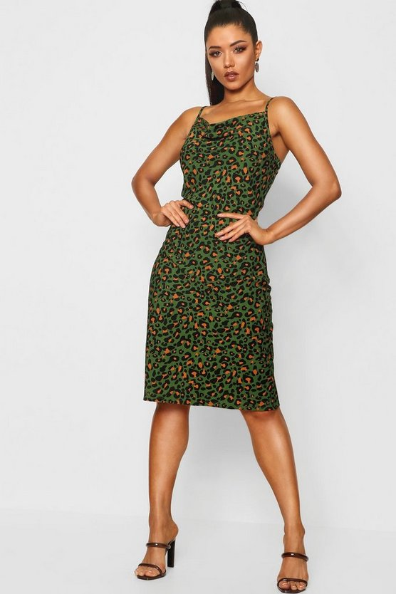 Leopard Midi Slip Dress