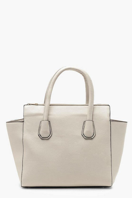 Structured Tote With Cross Body Strap