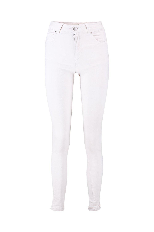 Rise Jeans Mid Skinny white Ecru BwdAqSH