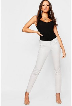 Womens Light grey Low Rise Stretch Skinny Jeans