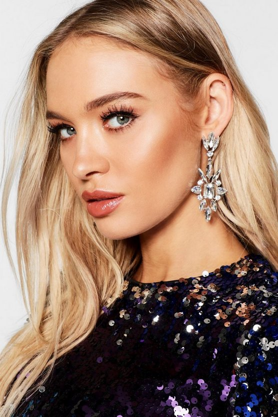 Statement Diamante Drop Earrings