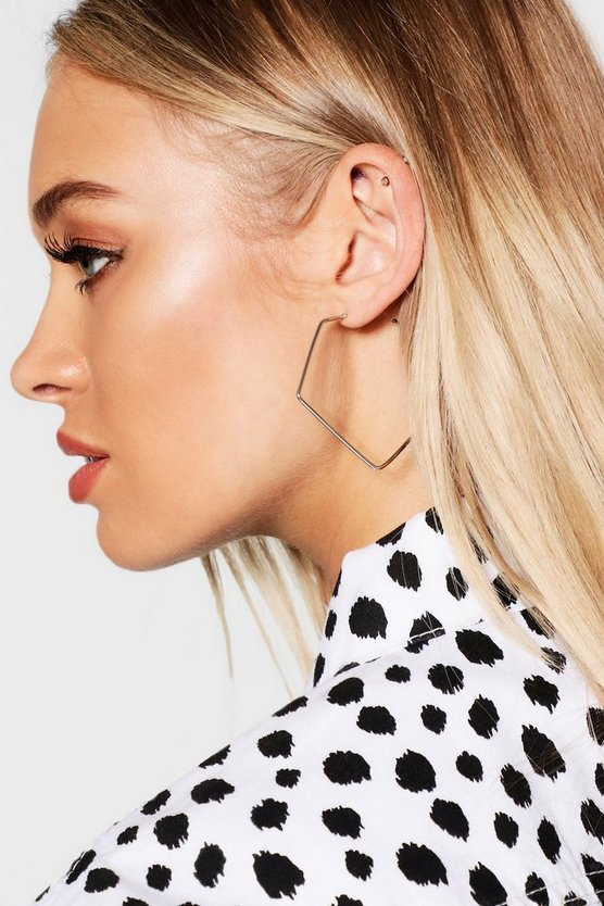 Pentagon Hoop Earrings