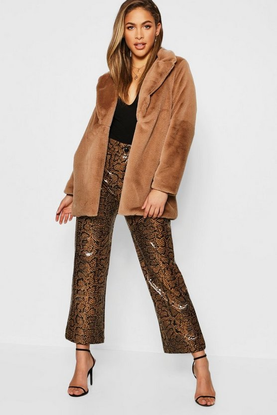 Soft Touch Faux Fur Coat