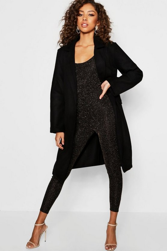 Double Pocket Military Wool Coat