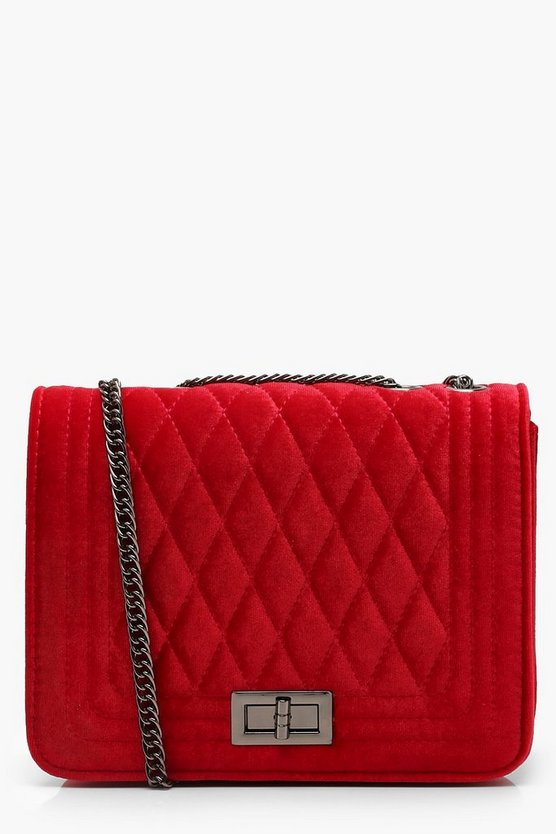 Velvet Quilted Cross Body