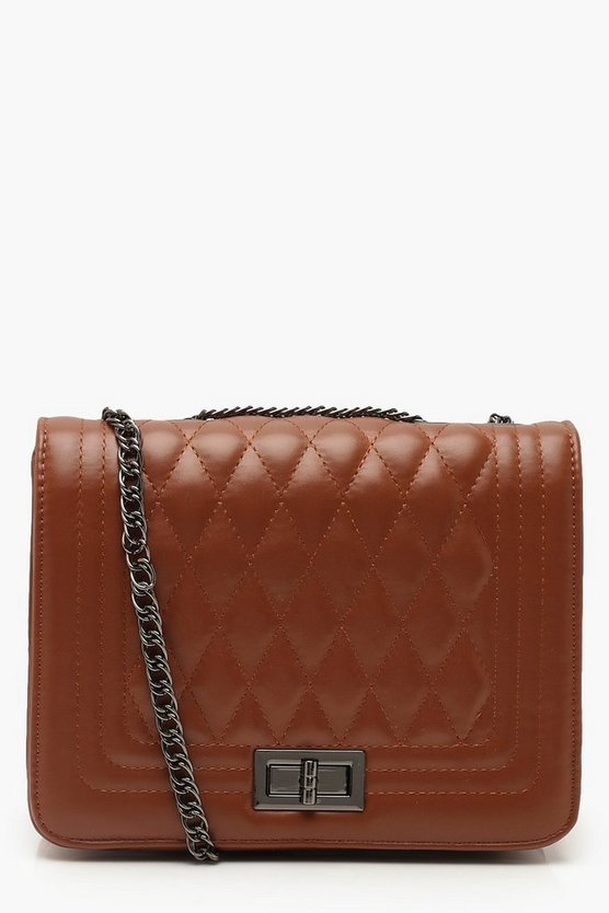 PU Quilted Cross Body