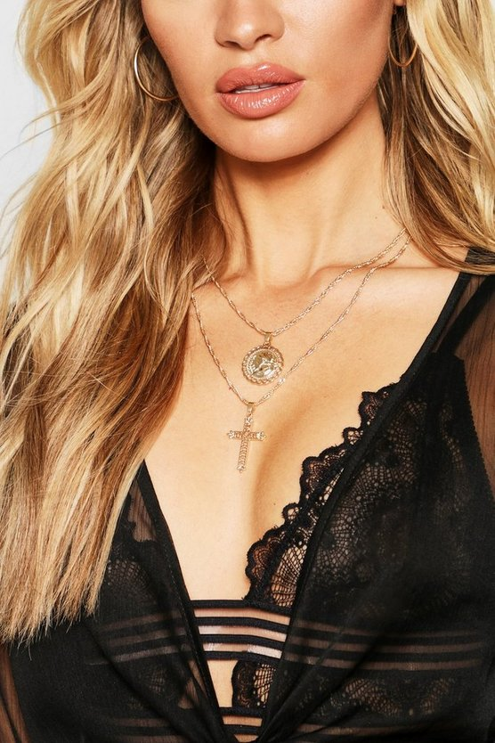 Cross & Sovereign Layered Necklace