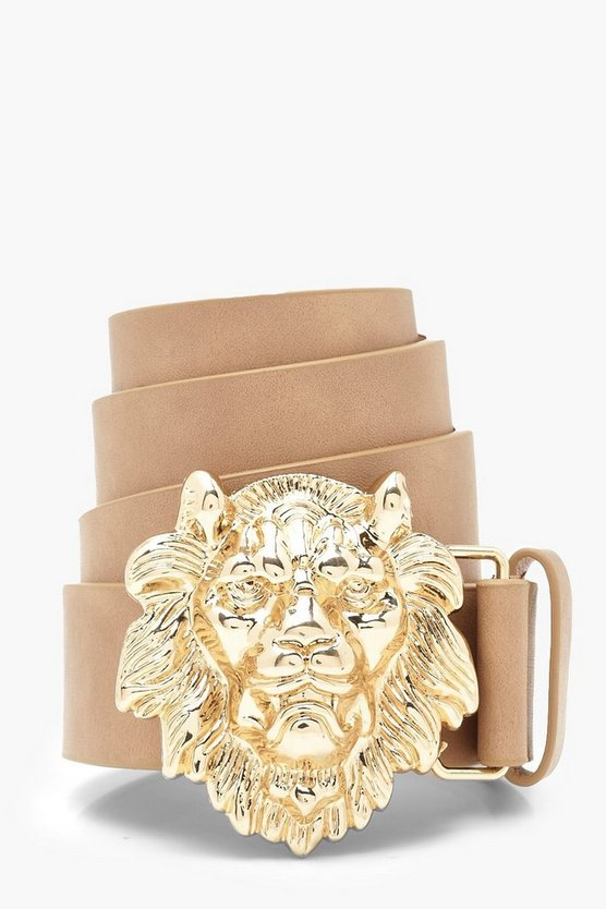 Lion Head Buckle Belt