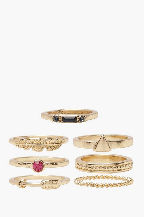 Gold Simple Stackable Ring Pack
