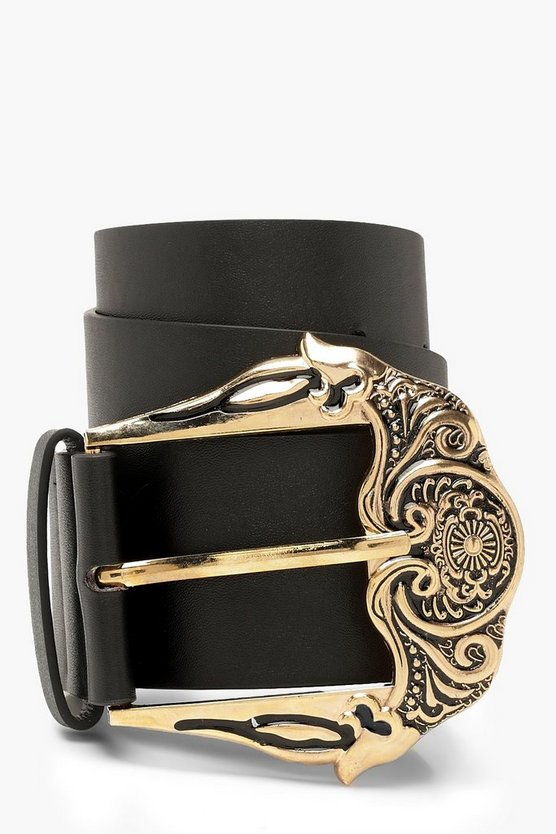 Womens Oversized Western Waist Belt