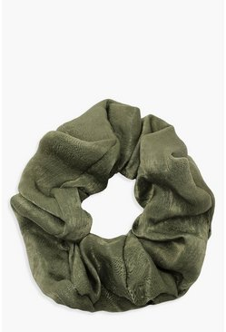 Dam Green Satin Shine Scrunchie